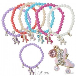 Braccialetti Perline Assortite - Pattini Strass