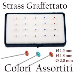 Gioielli Naso Graff..Ass 1,5 mm. 20 pz