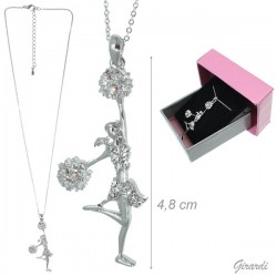 Collana Girocollo con Ballerina Cheerleader
