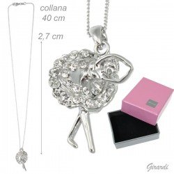 Collana Girocollo con Ballerina Gonna Di Strass