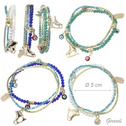 Bracciale Multiplo Di Perline e Strass - Pattino Ghiaccio